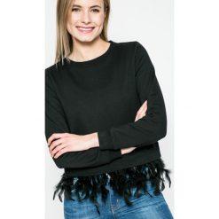 Answear - Bluza SPORTY FUSION. Czarne bluzy damskie marki ANSWEAR, l, z bawełny, bez kaptura. W wyprzedaży za 69,90 zł.