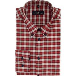 Koszula BIAGIO slim 15-08-07-K. Czerwone koszule męskie na spinki marki Cropp, l. Za 199,00 zł.