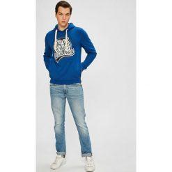 Blend - Bluza. Białe bluzy męskie rozpinane Blend, l, z nadrukiem, z bawełny, z kapturem. W wyprzedaży za 79,90 zł.