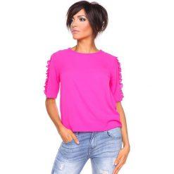"T-shirty damskie: Koszulka ""Aline"" w kolorze fuksji"