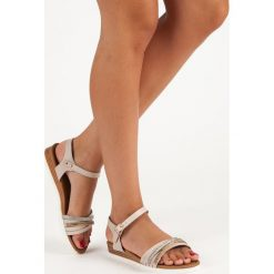 LAVINIA casualowe płaskie sandały brązowe. Brązowe sandały damskie Primavera, na płaskiej podeszwie. Za 46,90 zł.