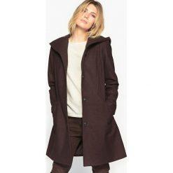 Płaszcze damskie pastelowe: Płaszcz z kapturem, 57 % wełny