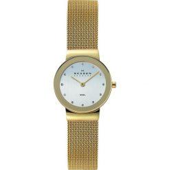 Zegarek SKAGEN - Freja 358SGGD Gold/Gold. Żółte zegarki damskie Skagen. W wyprzedaży za 449,00 zł.