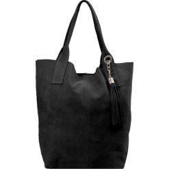 """Torebki i plecaki damskie: Skórzana torebka """"Chloe"""" w kolorze czarnym – 33 x 34 x 18 cm"""
