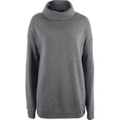 Bluza oversize z golfem bonprix szary melanż. Szare bluzy damskie bonprix, melanż. Za 27,99 zł.