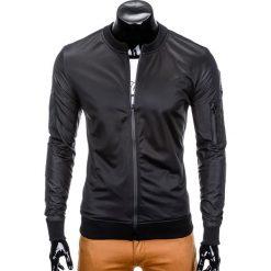 Bluzy męskie: BLUZA MĘSKA ROZPINANA BEZ KAPTURA B749 - CZARNA
