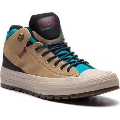 Trampki CONVERSE - Ctas Street Boot Hi 162359C Khaki/Black//Rapid Teal. Brązowe trampki męskie Converse, z gumy. W wyprzedaży za 289,00 zł.