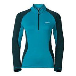 Bluzy sportowe damskie: Odlo Bluza damska Midlayer 1/2 zip PACT niebieska r. L (527081)