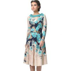 Sukienki balowe: Sukienka w kolorze beżowo-turkusowym