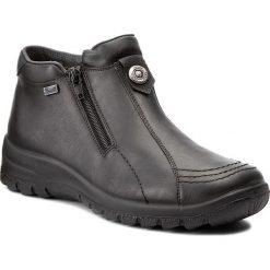 Botki RIEKER - L7191-02 Black. Czarne buty zimowe damskie marki Rieker, z materiału. W wyprzedaży za 209,00 zł.