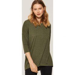 Bluzki damskie: Oversize'owa bluzka - Khaki