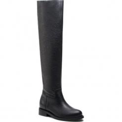 Muszkieterki L37 - Mr Jones Maxi SS11 Czarny. Czarne buty zimowe damskie L37, ze skóry ekologicznej, przed kolano, na wysokim obcasie. Za 889,00 zł.
