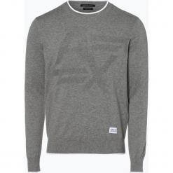 Armani Exchange - Sweter męski z dodatkiem kaszmiru, szary. Czarne swetry klasyczne męskie marki Armani Exchange, l, z materiału, z kapturem. Za 449,95 zł.