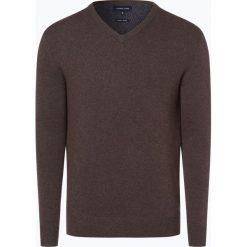 Swetry klasyczne męskie: Andrew James – Sweter męski z dodatkiem kaszmiru, brązowy