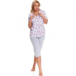 Piżama w kolorze biało-szarym - koszula, spodnie. Białe piżamy damskie Doctor Nap, l. W wyprzedaży za 82,95 zł.