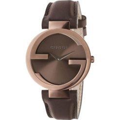 ZEGAREK GUCCI INTERLOCKING YA133309. Czarne zegarki damskie marki KALENJI, ze stali. Za 4390,00 zł.