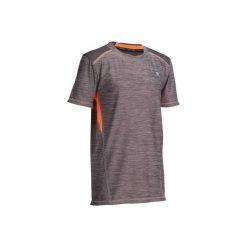 Koszulka Gym Energy. Szare t-shirty dziewczęce marki DOMYOS, z elastanu, z kapturem. Za 39,99 zł.