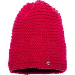 Czapki damskie: Malinowa prążkowana czapka QUIOSQUE