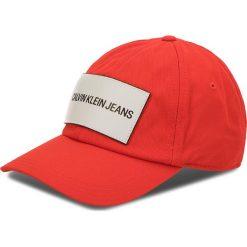 Czapka z daszkiem CALVIN KLEIN JEANS - J K40K400258 630. Czerwone czapki z daszkiem damskie marki Calvin Klein Jeans, z bawełny. Za 159,00 zł.