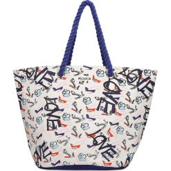 Torebki klasyczne damskie: Multikolorowa torba na plażę