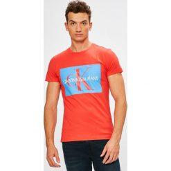 Calvin Klein Jeans - T-shirt/polo J30J307843. Różowe koszulki polo Calvin Klein Jeans, l, z nadrukiem, z bawełny. Za 199,90 zł.