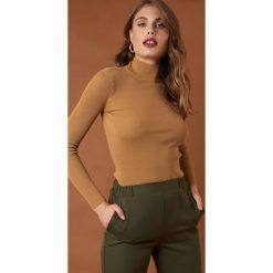 Golfy damskie: NA-KD Trend Sweter z golfem - Beige