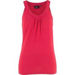 Top shirtowy, 100% bawełna bonprix czerwony. Czerwone topy damskie bonprix, z bawełny. Za 29,99 zł.