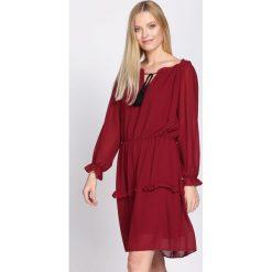 Bordowa Sukienka Counseled. Czerwone sukienki hiszpanki Born2be, uniwersalny, mini. Za 69,99 zł.