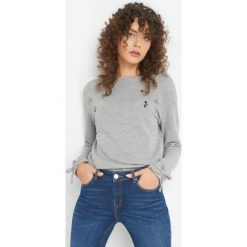 Koszulka z kryształkami. Szare t-shirty damskie marki Orsay, s, z aplikacjami, z bawełny. Za 69,99 zł.