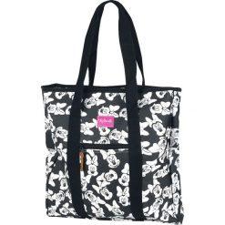 Myszka Miki i Minnie Minnie Torba zakupowa czarny/biały. Białe torebki klasyczne damskie Myszka Miki i Minnie, z motywem z bajki, duże, z nadrukiem. Za 79,90 zł.