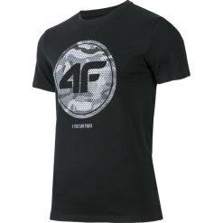 T-shirty męskie z nadrukiem: T-shirt męski TSM243 – głęboka czerń