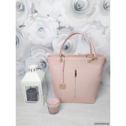 Torebki i plecaki damskie: Duża torebka kuferek MANZANA hot pudrowy róż