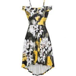 Sukienki hiszpanki: Sukienka w kwiaty bonprix żółty
