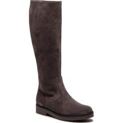 Oficerki GABOR - 91.609.12 Wallaby. Szare buty zimowe damskie marki Gabor, z materiału, przed kolano, na wysokim obcasie, na obcasie. W wyprzedaży za 469,00 zł.
