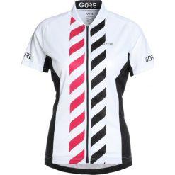 Gore Wear VERTICAL TRIKOT Tshirt z nadrukiem white/black. Białe topy sportowe damskie Gore Wear, z nadrukiem, z materiału. Za 339,00 zł.