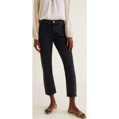 Mango - Jeansy Sayana. Szare proste jeansy damskie Mango. Za 139,90 zł.