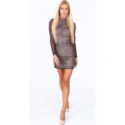 Sukienka z wycięciem na plecach fioletowa G5112. Fioletowe sukienki na komunię Fasardi, m, z dekoltem na plecach. Za 149,00 zł.
