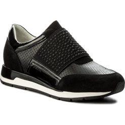 Sneakersy GEOX - D Shahira A D82N1A 02285 C9999 Black. Szare sneakersy damskie marki Geox, z gumy. W wyprzedaży za 339,00 zł.