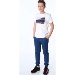 Chinosy chłopięce: Spodnie chłopięce z gumkami ciemnoniebieskie NDZ105
