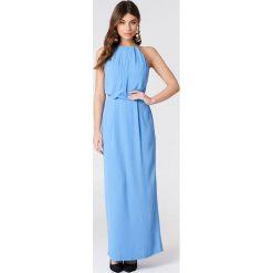 e999d4d655 ... Samsoe   Samsoe Długa sukienka Willow - Blue. Niebieskie sukienki  damskie Samsøe   Samsøe
