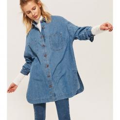 Jeansowa koszula oversize - Niebieski. Niebieskie koszule jeansowe damskie marki House, l. Za 119,99 zł.