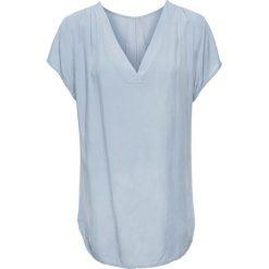 Bluzki damskie: Bluzka satynowa bonprix niebieski dymny