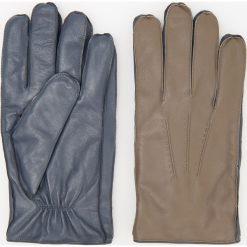 Rękawiczki skórzane ReDesign - Brązowy. Brązowe rękawiczki męskie Reserved. Za 119,99 zł.