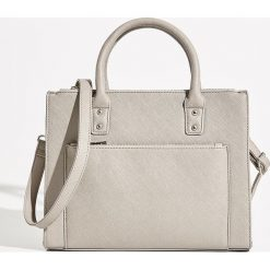 Torba City bag - Jasny szar. Szare torebki klasyczne damskie marki 4f, z materiału. Za 79,99 zł.
