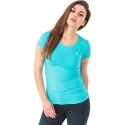 Outhorn Koszulka damska HOL18-TSD600 miętowa r. S. Szare bluzki damskie marki Outhorn, melanż, z bawełny. Za 19,99 zł.