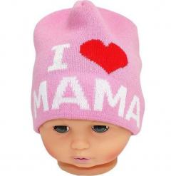 Czapka niemowlęca z napisem mama CZ 161E. Różowe czapeczki niemowlęce Proman, z napisami. Za 30,75 zł.
