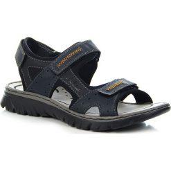 Sandały męskie: Granatowe sandały męskie komfortowe Rieker 26757-14