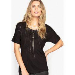 T-shirty damskie: T-shirt z matowymi cekinami