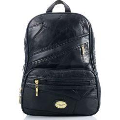 Plecaki damskie: AMBER Skórzany plecak damski czarny