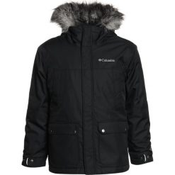Kurtki chłopięce przeciwdeszczowe: Columbia SNOWFIELD UKUT Kurtka hardshell black heather